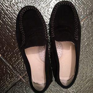 Primigi suede black driving loafers size 28